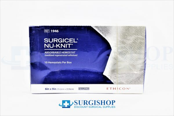 Ethicon Surgicel Nu-Knit Absorbable Hemostat 6.0in x 9.0in (15.2cm x 22.9cm)