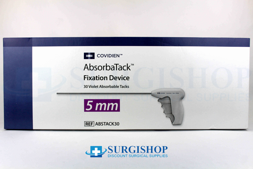 Covidien AbsorbaTack Fixation Laparoscopic Hernia (30) Absorbable Tacks 5.0mm