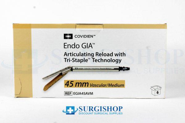 Covidien Endo GIA Articulating Vascular/Medium Tri-Staple Reload 45.0mm (Gold)
