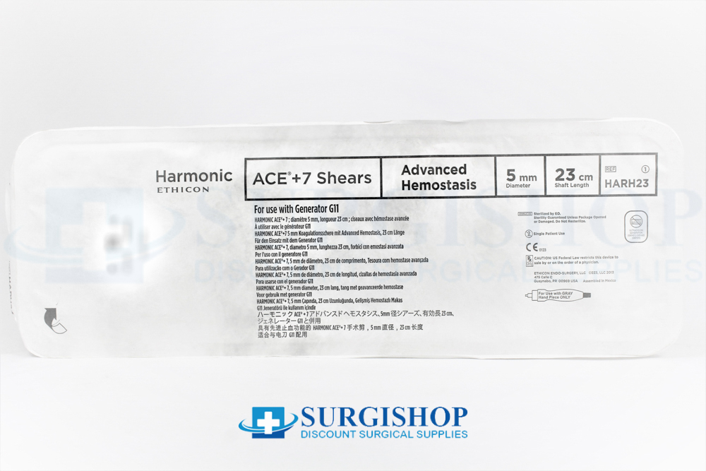 Ethicon Harmonic Ace + 7 Shears Advanced Hemostasis 5.0mm x 23.0cm