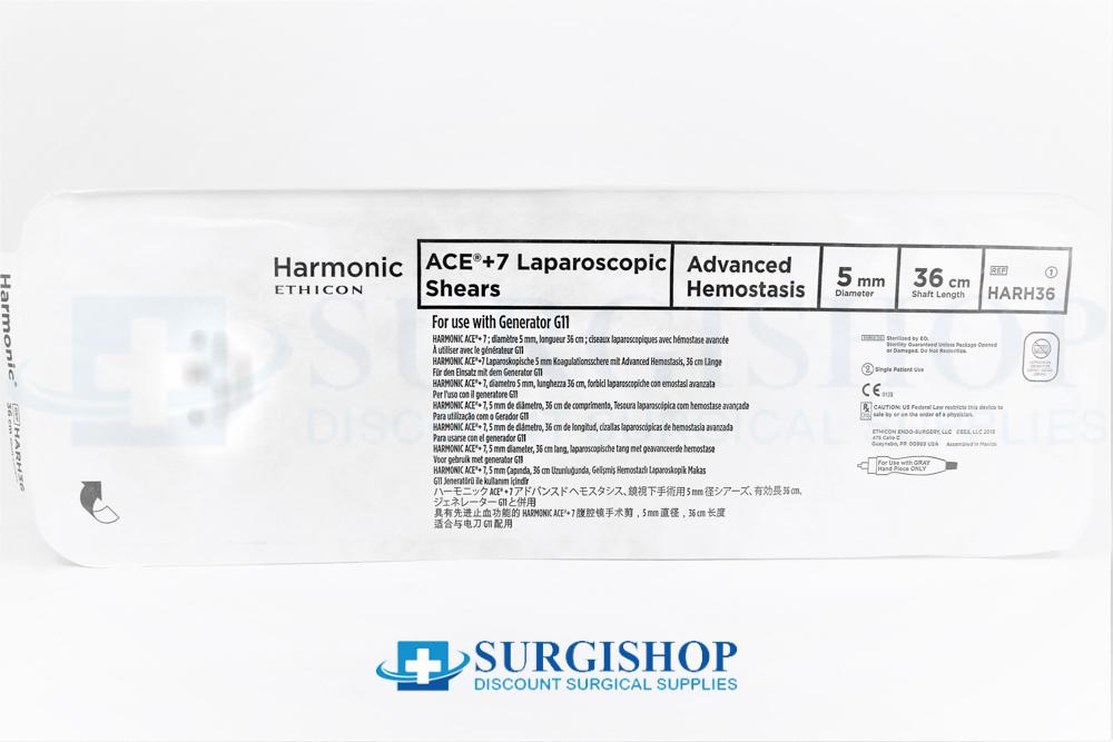 Ethicon Harmonic Ace + 7 Shears Advanced Hemostasis 5.0mm x 36.0cm