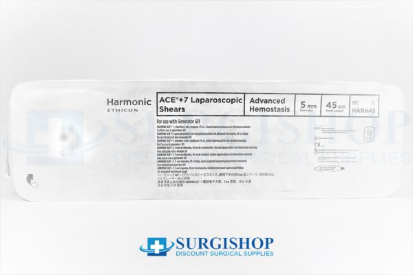 Ethicon Harmonic Ace +7 Shears Advanced Hemostasis 5.0mm x 45.0cm