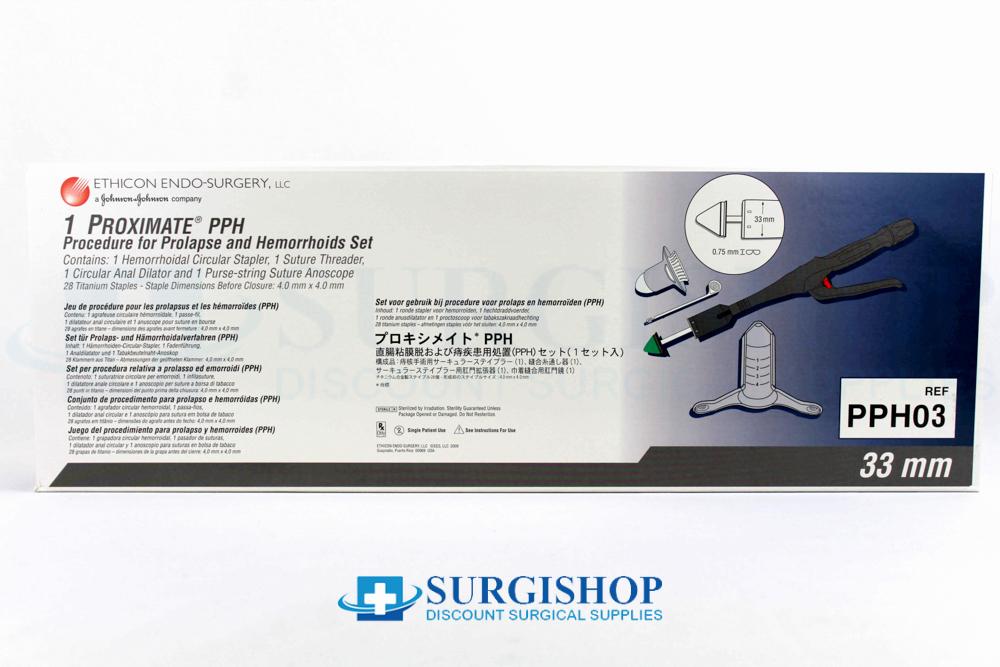 Ethicon Proximate PPH Hemorrhoidal Circular Stapler Set (28) Titanium Staples 33.0mm