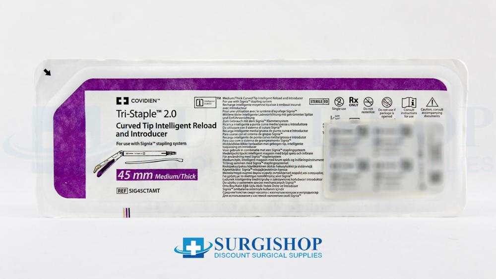 Covidien Signia Tri-Staple 2.0 Curved Tip Medium/Thick Reload 45.0mm (Purple)