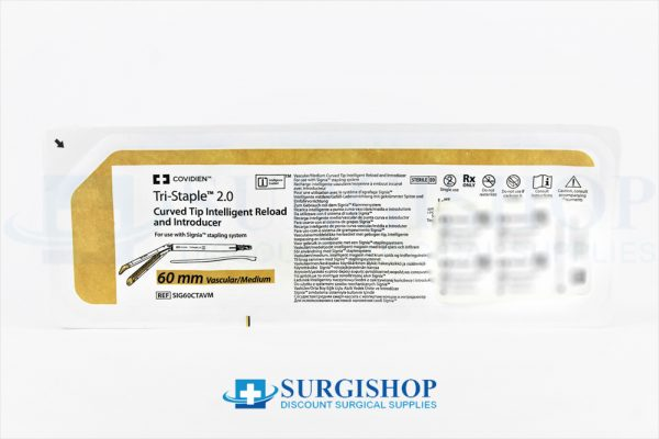 Covidien Signia Tri-Staple 2.0 Curved Tip Vascular/Medium Reload 60.0mm (Gold)