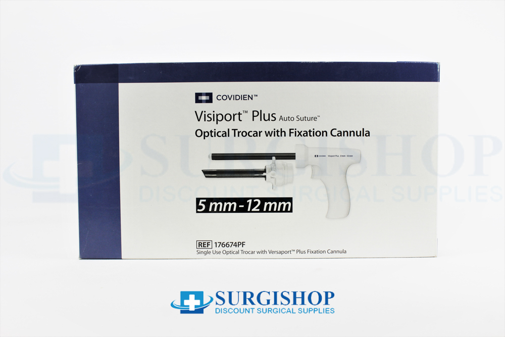 Covidien Visiport Plus Optical Trocar Fixation Cannula 5.0mm x 12.0mm