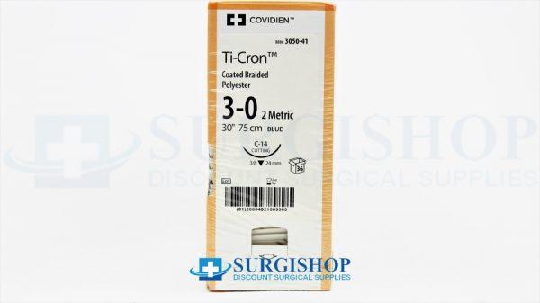 Covidien Suture Ti-Cron 3-0 (Blue)