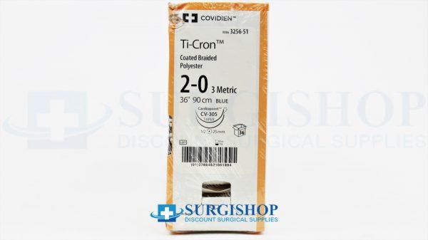 Covidien Suture Ti-Cron 2-0 (Blue)