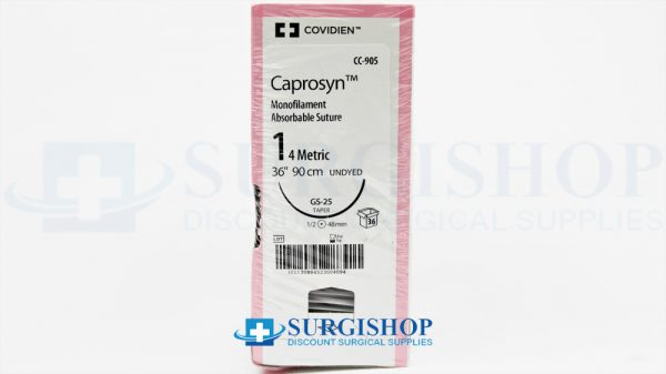 Covidien Suture Caprosyn 1 (Undyed)