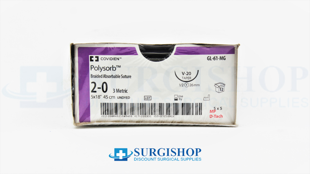 Covidien Suture Polysorb 2-0 (Undyed)