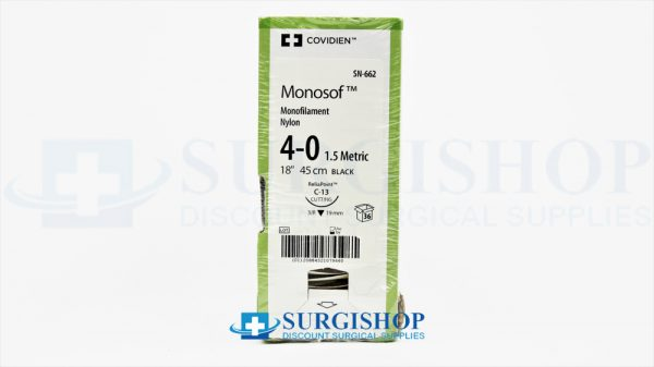 Covidien Suture Monosof 4-0 (Black)
