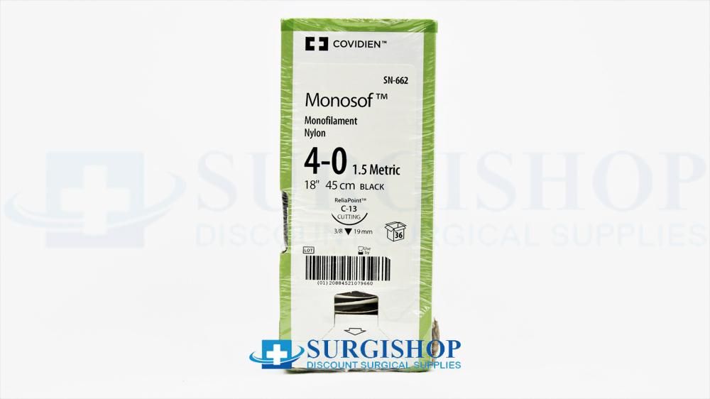 Covidien Suture Monosof 4-0 (Black)