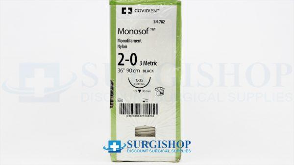 Covidien Suture Monosof 2-0 (Black)