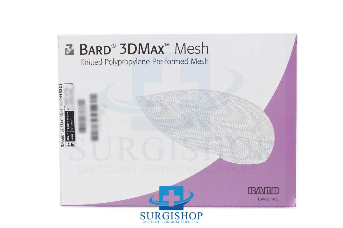 Bard 3DMax Mesh Knitted Polypropylene Pre-formed Mesh 10.8cm x 16.0cm