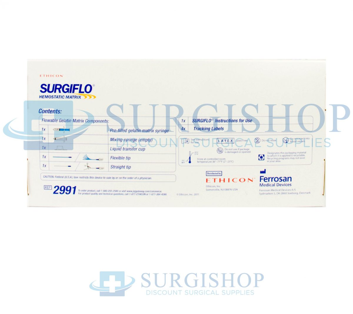 2991 – Ethicon Surgiflo Hemostatic Matrix 8.0 ML Each