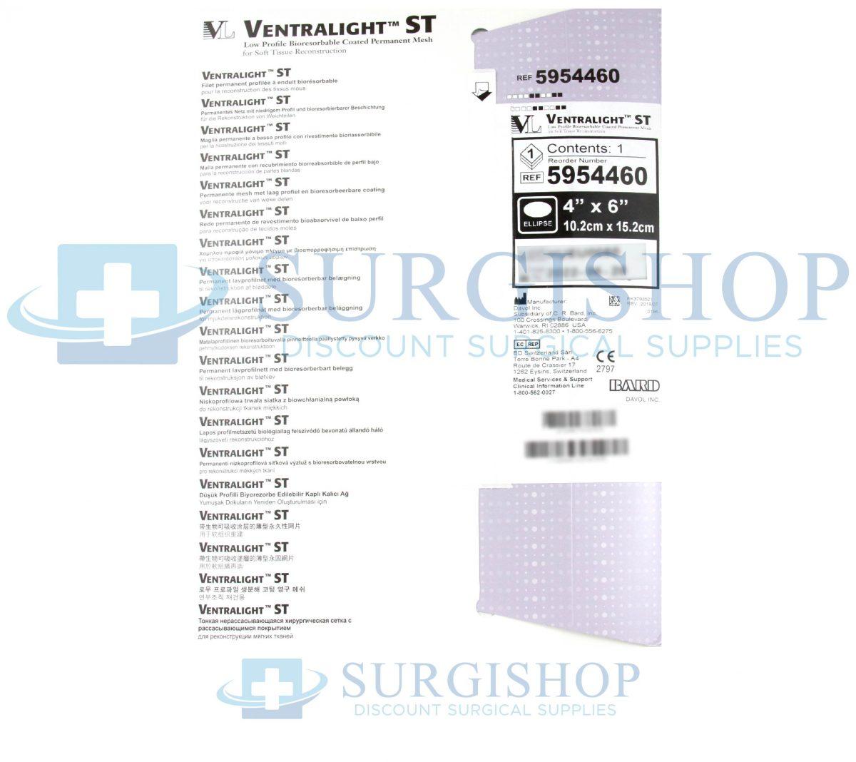 5954460 – Bard Ventralight St Elliptical 4.0in x 6.0in Each