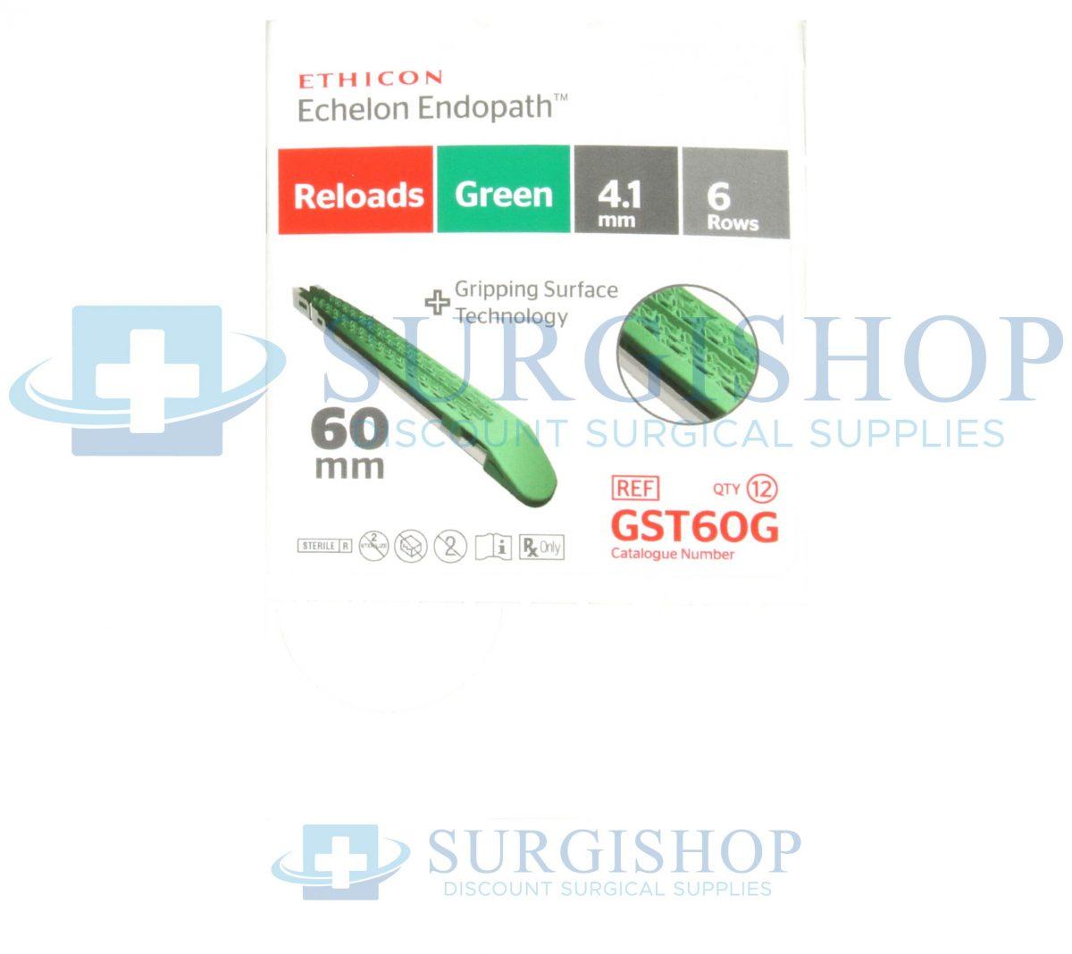 Ethicon Echelon Flex GST System Reload (Green) 60.0mm x 4.1mm