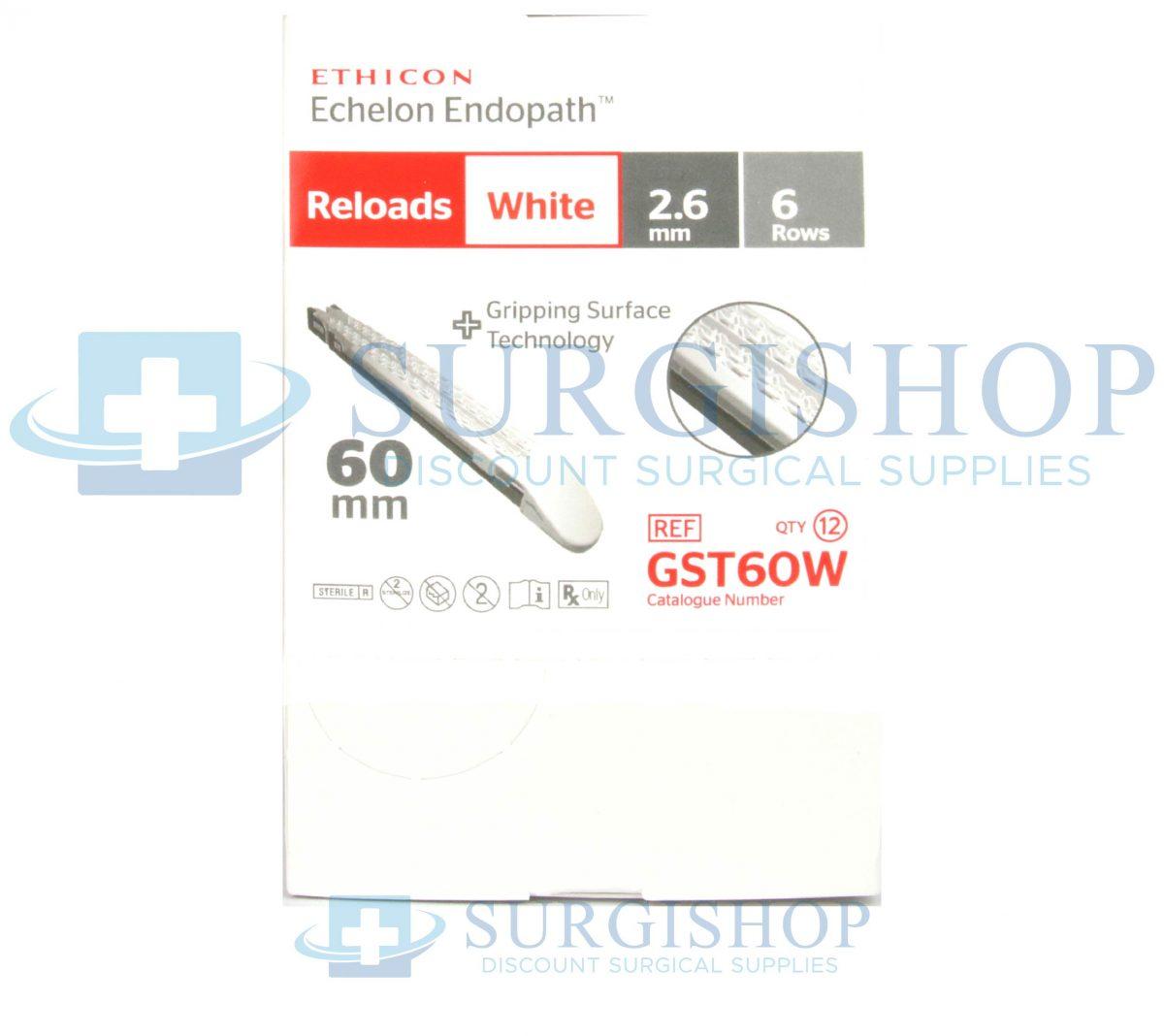 Ethicon Echelon Flex GST System Reload (White) 60.0mm x 2.6mm