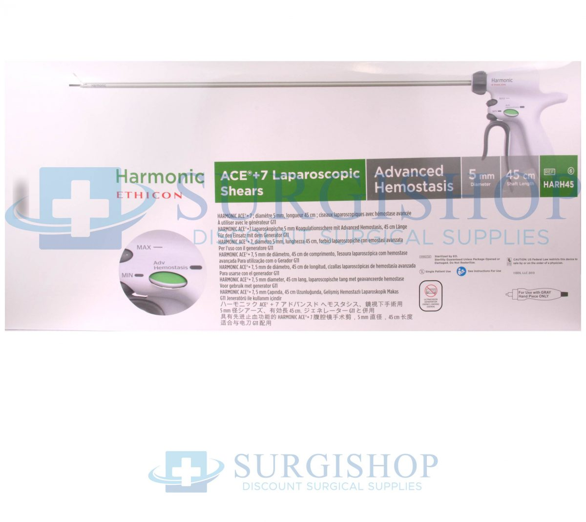 Ethicon Energy Harmonic Ace +7 Shear With Advanced Hemostasis 45cm