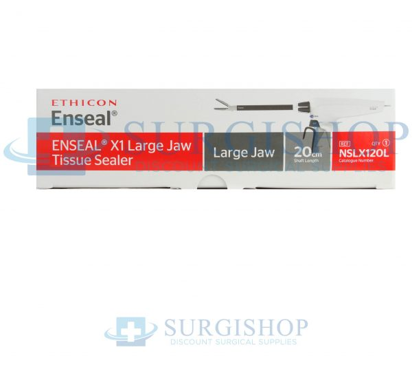 NSLX120L – Ethicon Enseal X1 Curved Tip Tissue Sealer Large Jaw 13.0mm x 20.0cm Each