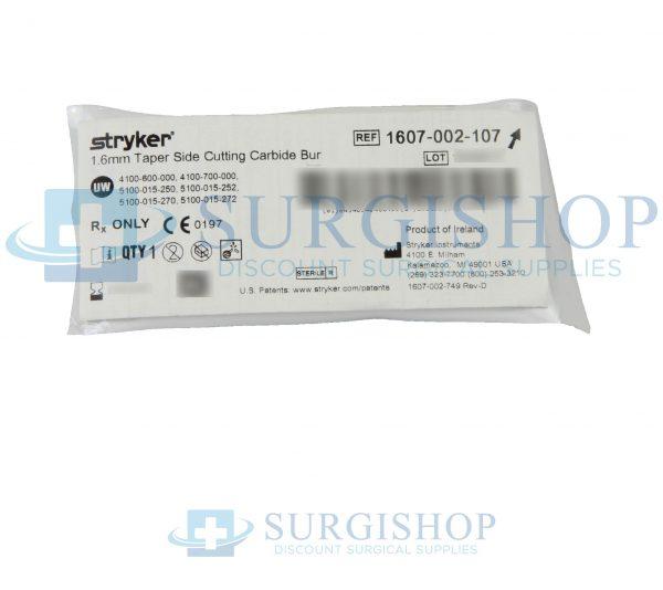 Stryker Taper Side Cutting Carbide Bur 1.6mm
