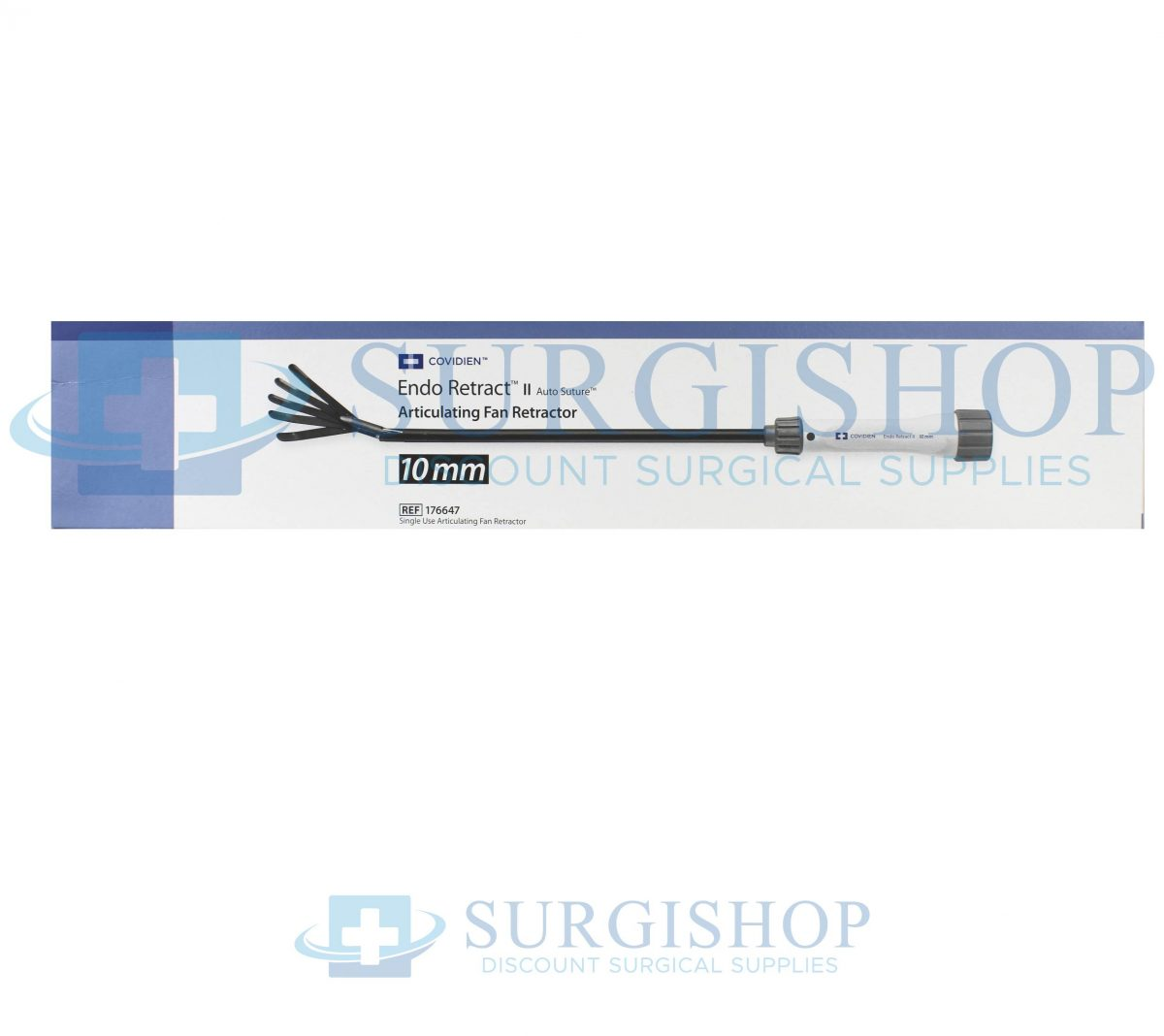 Covidien Endo Retract II Auto Suture Single Use Articulating Fan 10mm