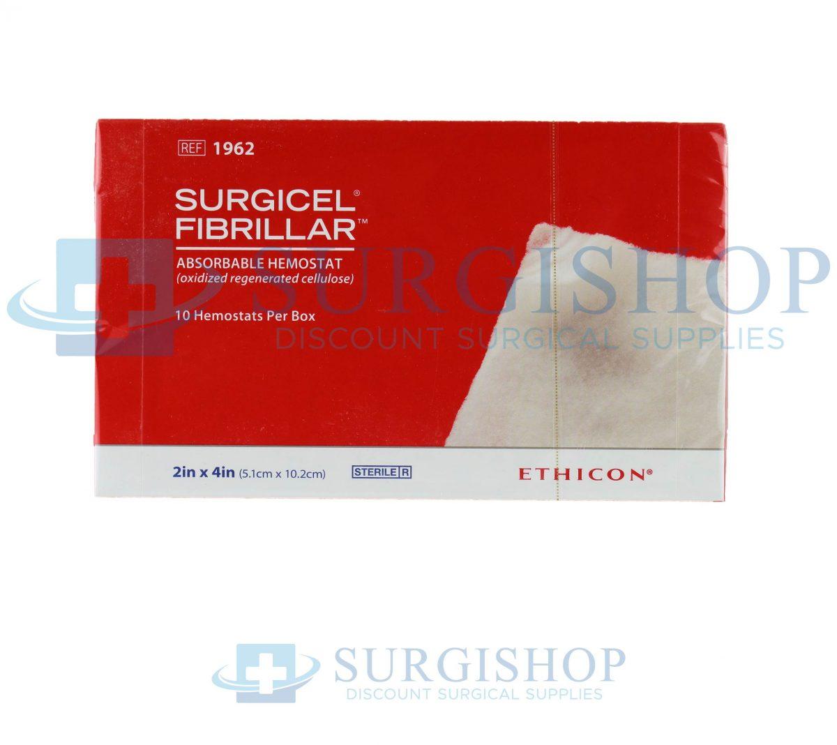 Ethicon Surgicel Fibrillar Absorbable Hemostat 2.0in x 4.0in (5.1cm x 10.2cm)