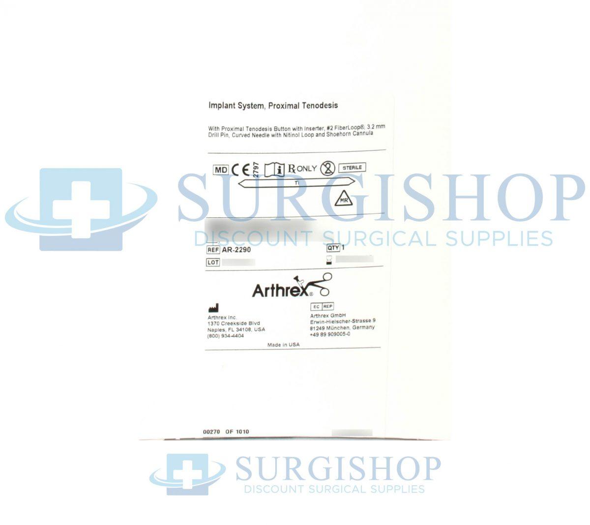 Arthrex Proximal Tenodesis Implant System