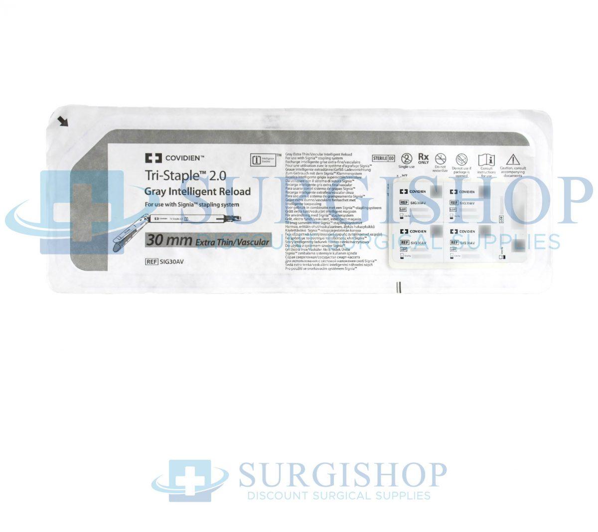 Covidien Signia Tri-Staple 2.0 Extra-Thin/Vascular Reload 30.0mm (Gray)