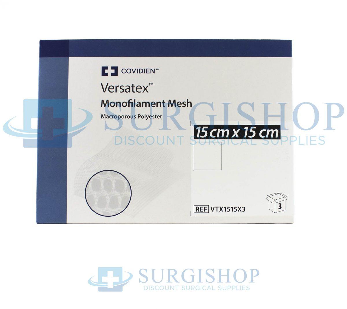 Covidien Versatex Monofilament Mesh 15cm X 15cm